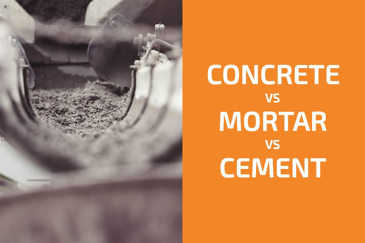 Concrete vs. Mortar vs. Cement: What Are the Differences?